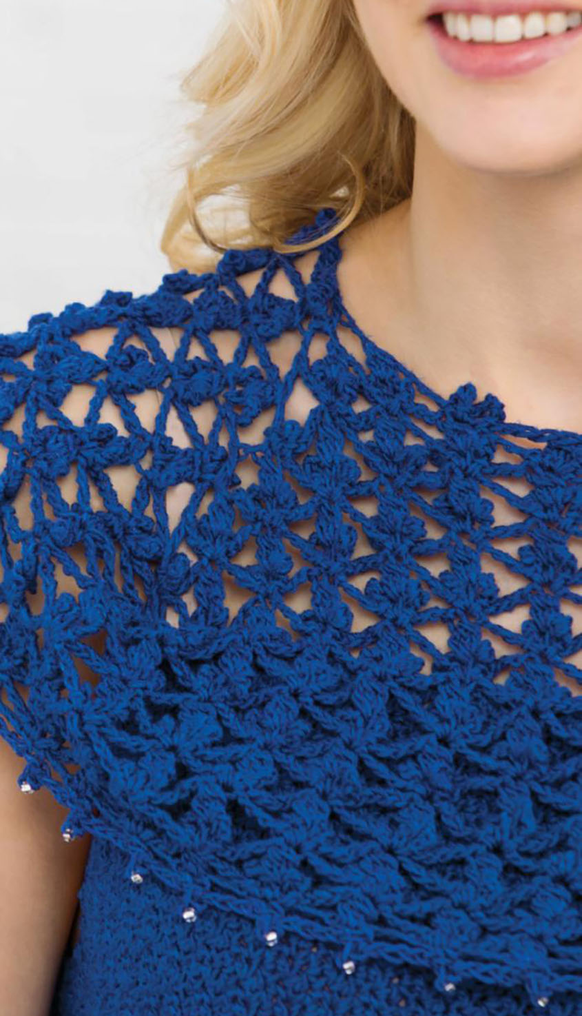 Lace overlay top crochet pattern