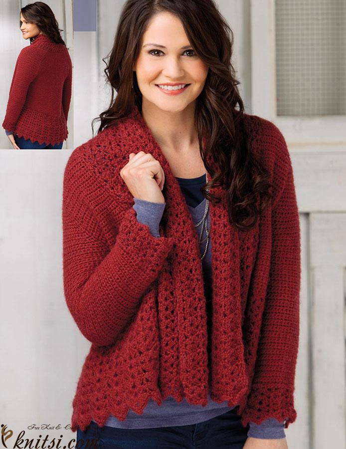 Crochet Raglan Cardigan Pattern