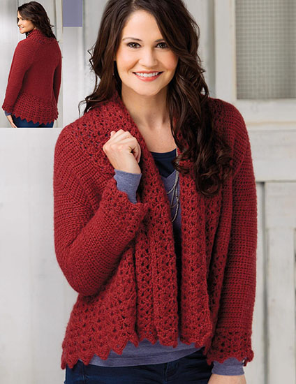 Women's cardigan crochet pattern