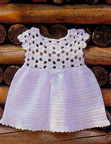 Baby girl dress crochet pattern