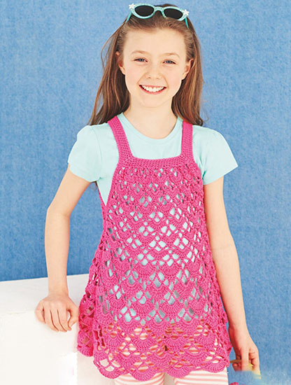 Girl's dress crochet pattern