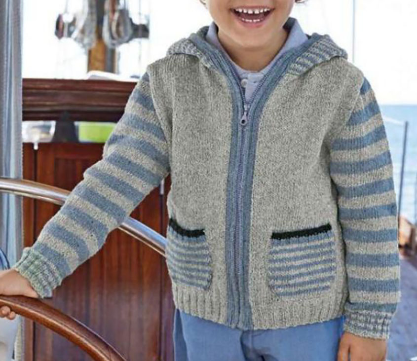 Boy Zip Hoodie Knitting Pattern