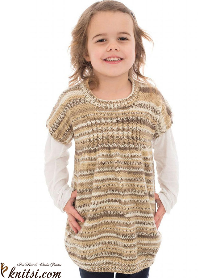 Easy Tunic For Girl Knitting Pattern