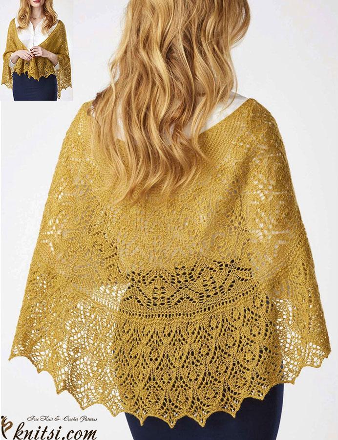 Crescent Shawl Knitting Pattern