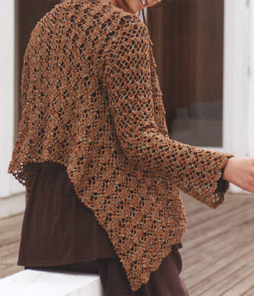 Women\'s cardigan crochet pattern