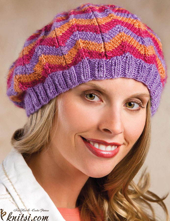 Zigzag Hat Knitting Pattern