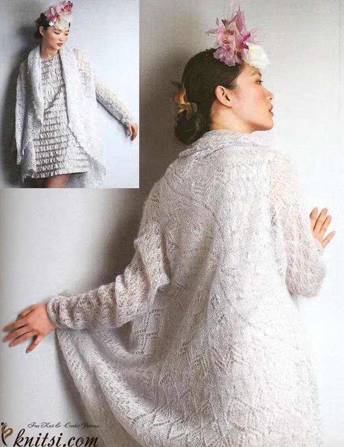Circular Cardigan Knitting Pattern