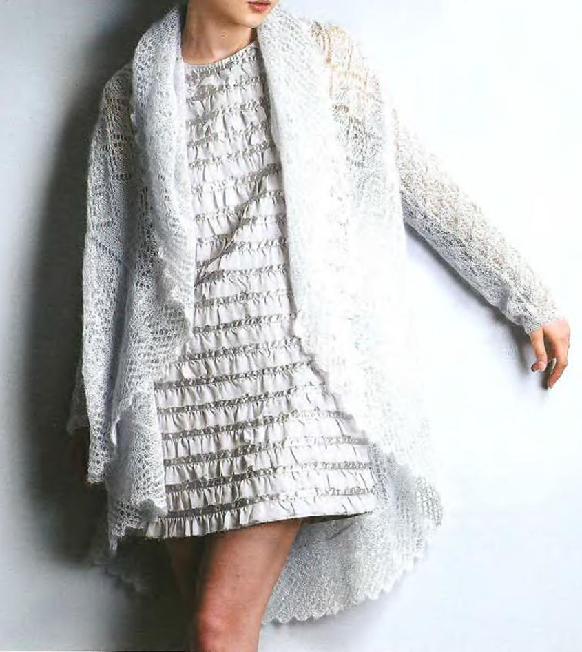 Circular cardigan knitting pattern