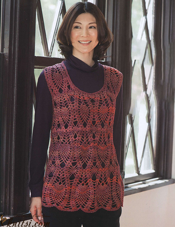 Crochet Pineapple Tunic Pattern