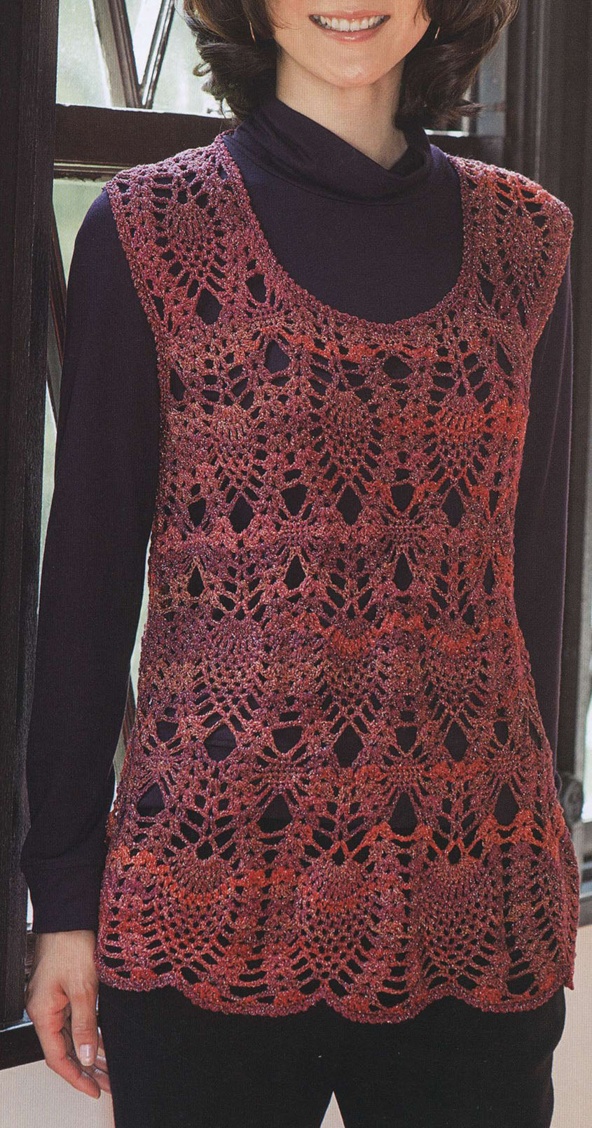 Women's tunic crochet pattern