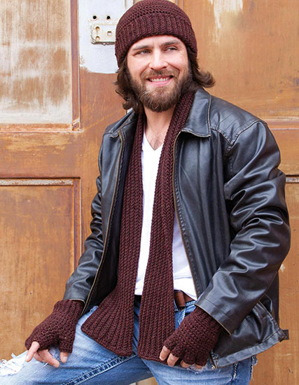 Men's set crochet pattern free