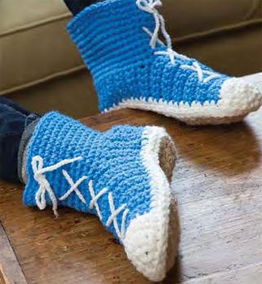 Slipper socks crochet patterns