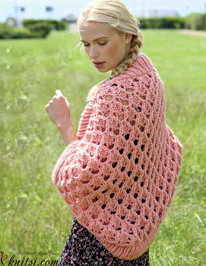Womens Shrug Knitting Pattern
