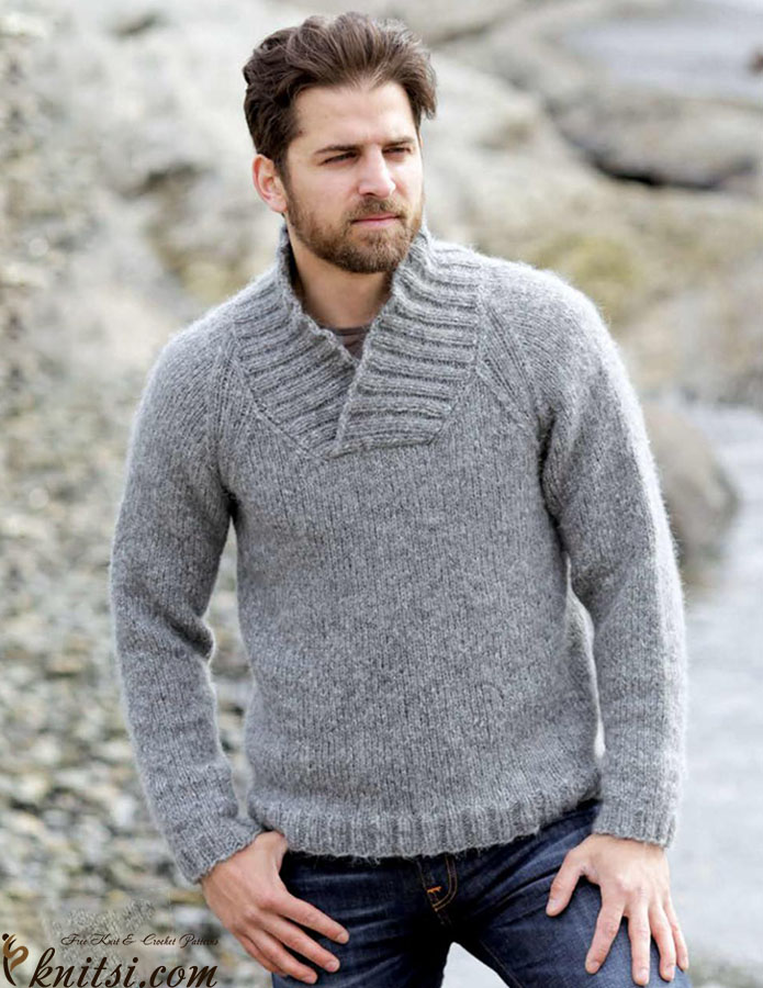 Men\'s raglan jumper knitting pattern