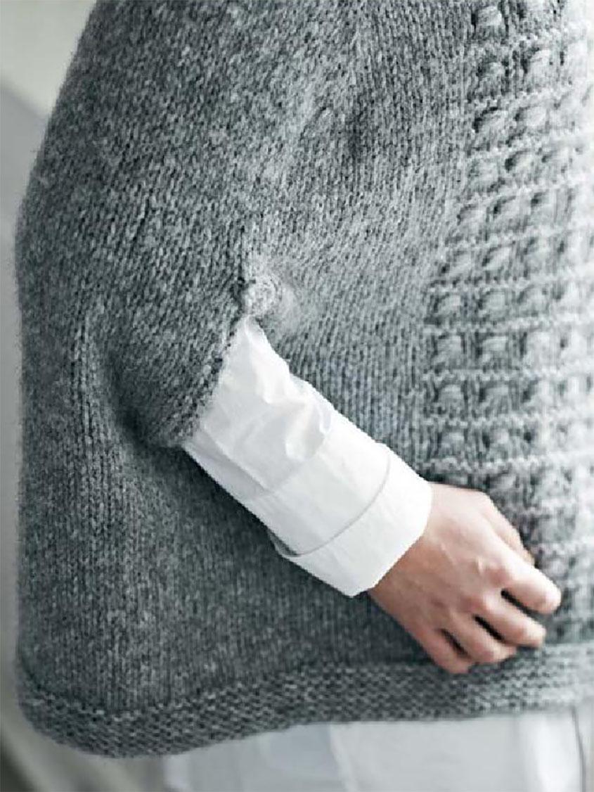Top down poncho knitting pattern