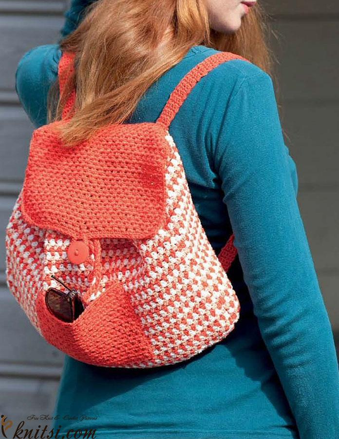 Backpack crochet pattern