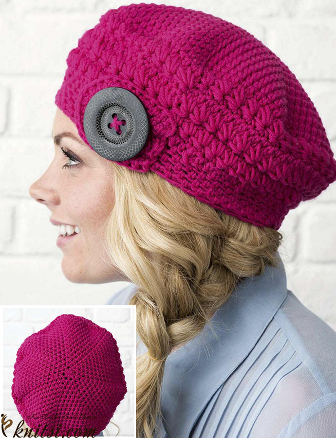 Winter Beret Crochet Pattern