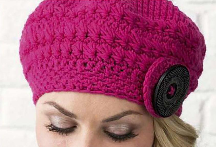 Winter Beret Crochet Pattern