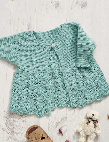 ce214c29e Craft Passions  Lovely baby girl s jacket  Free Crochet  pattern ...
