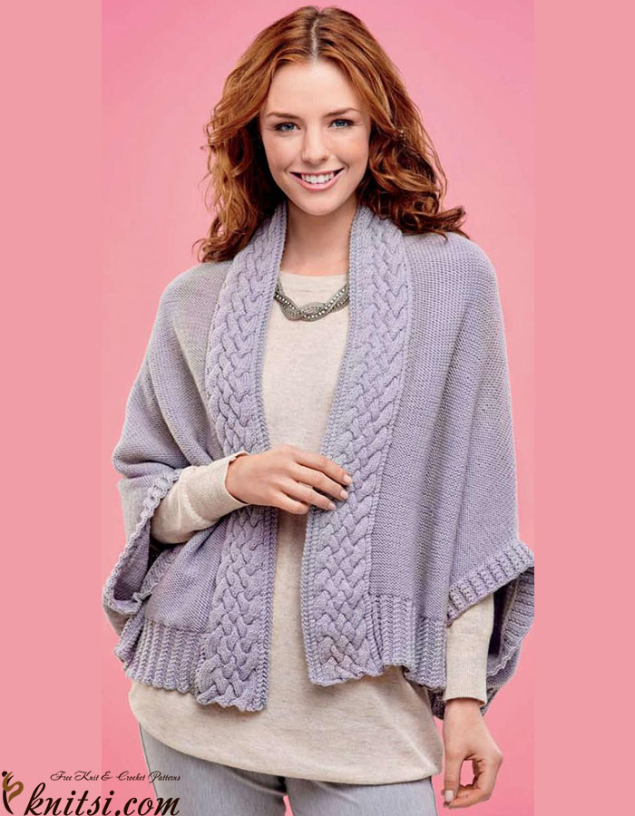 Cabled Cape Knitting Pattern