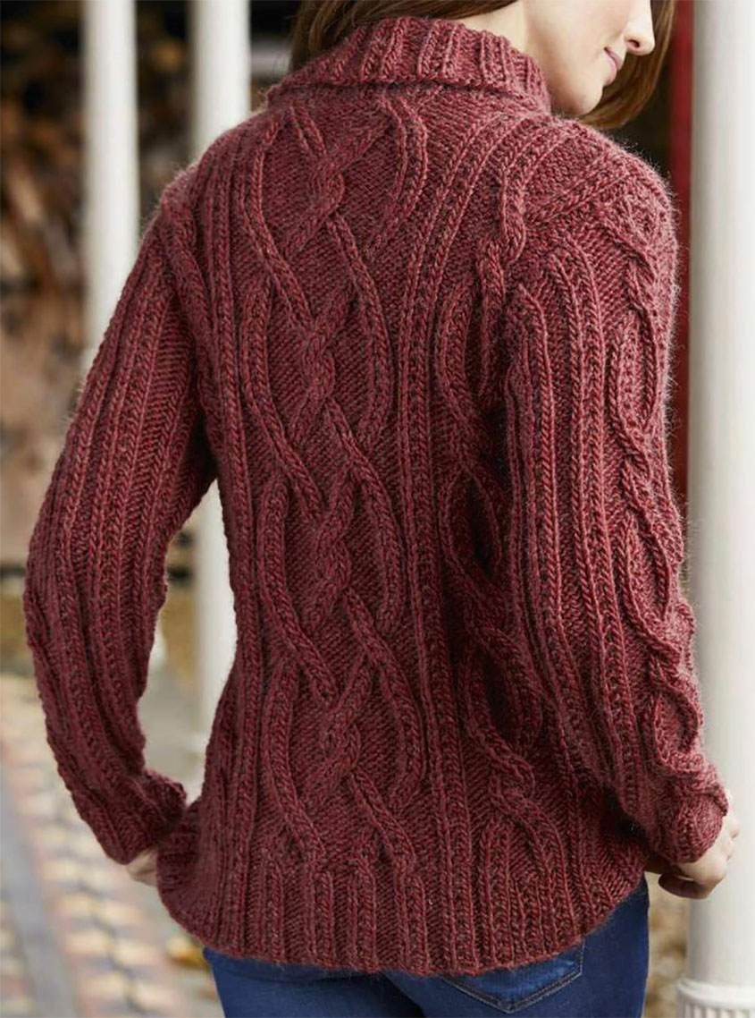 9e1a004bf155bc Cable knit jumper pattern. Jumper knitting pattern free
