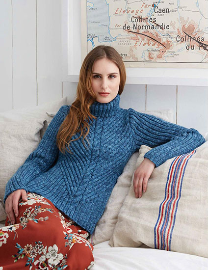 Polo neck knitting pattern free