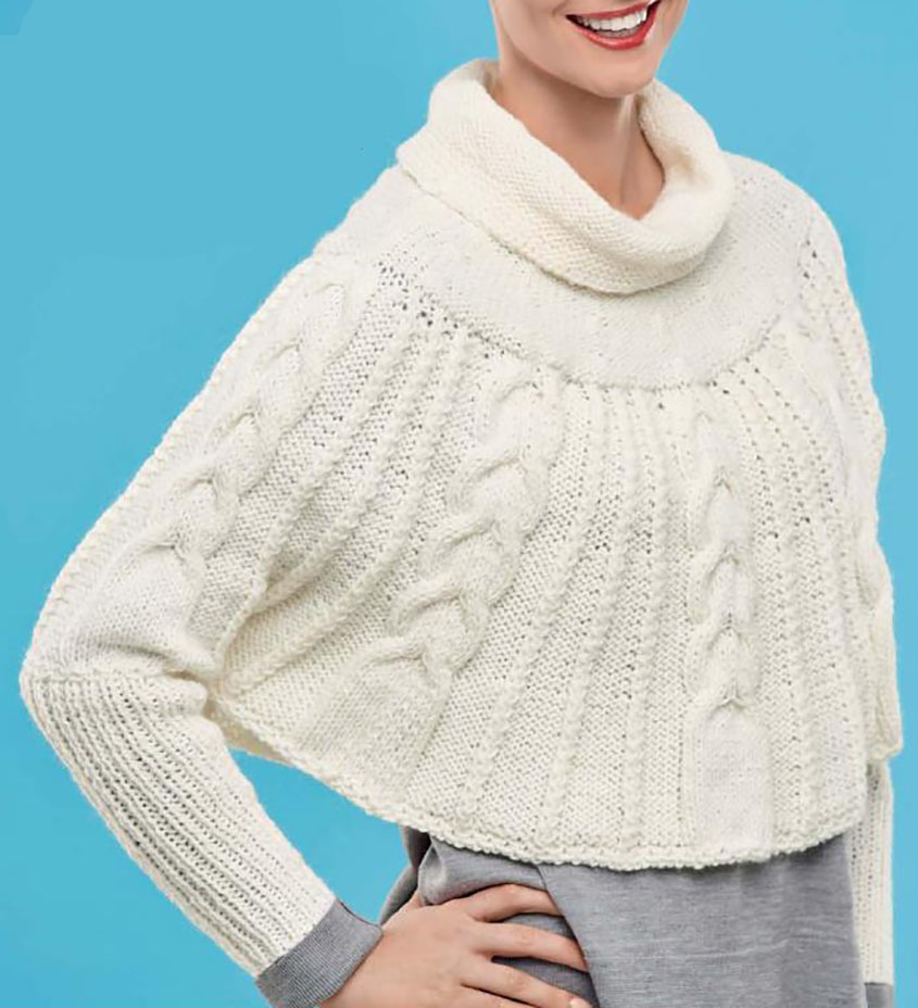 Knit Cape With Sleeves Pattern