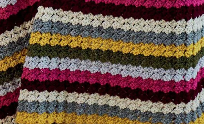 Crochet Striped Blanket Pattern