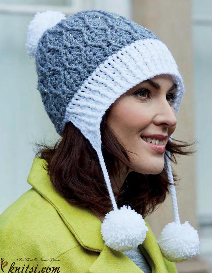 Pom Pom Hat Crochet Pattern