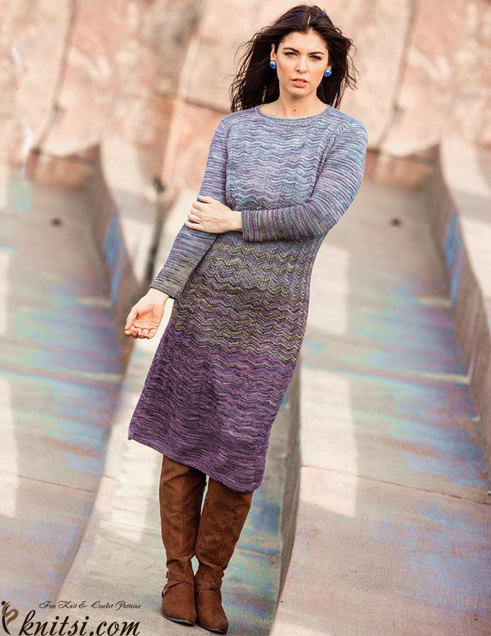Knit Chevron Dress Pattern