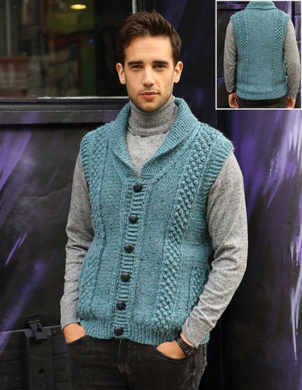 be0a6a5bc32b Free Vests Knitting And Crochet Patterns For Men