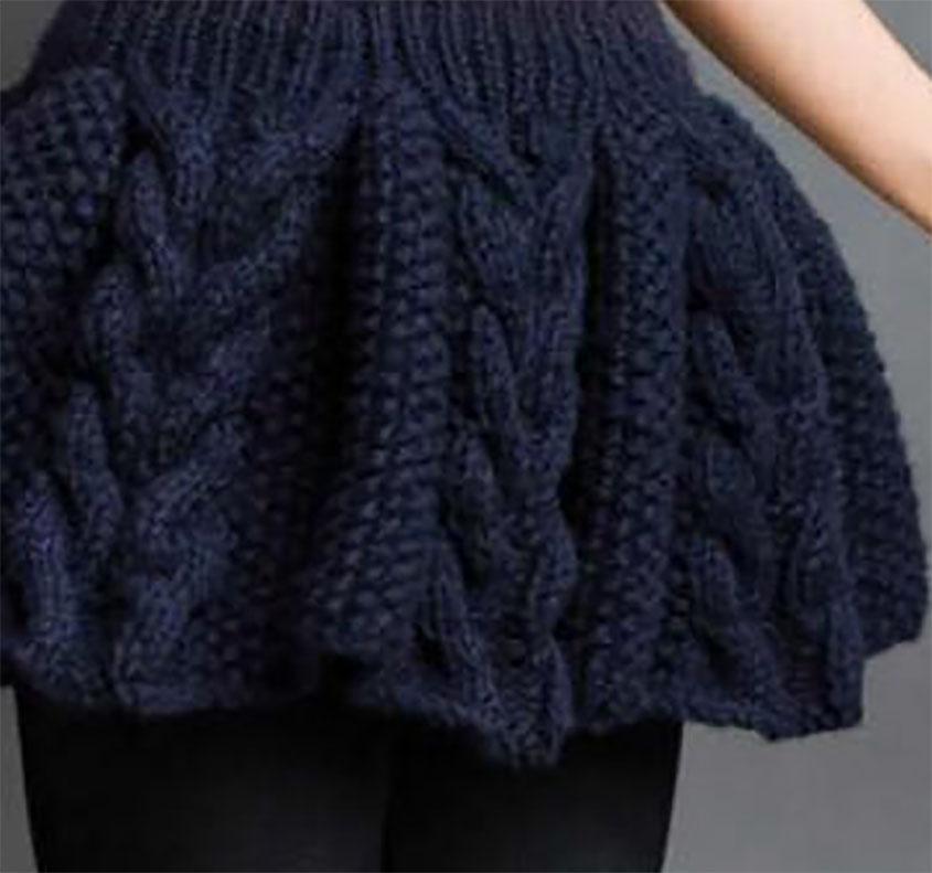 Skirt knitting pattern