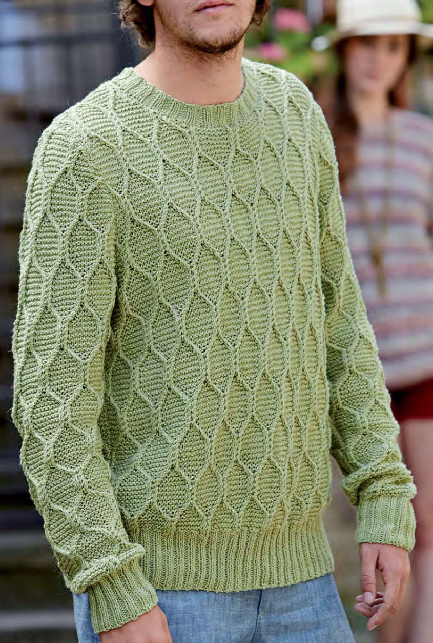 Men\'s pullover knitting pattern