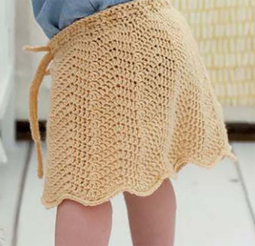 Little girl\'s skirt crochet pattern