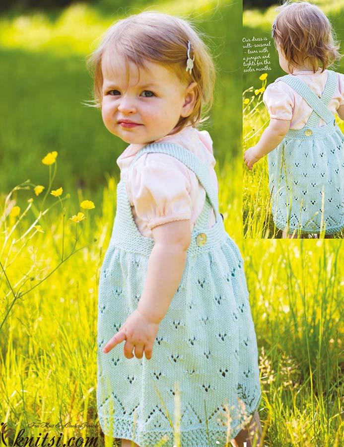 Little Girls Knitted Pinafore Dress
