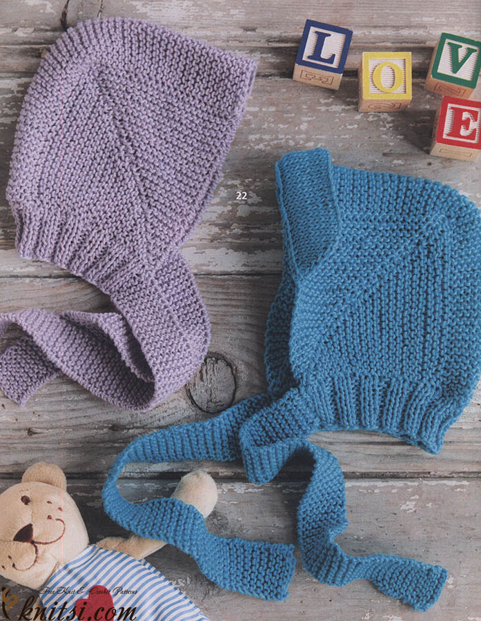 Free knitting patterns baby bonnets