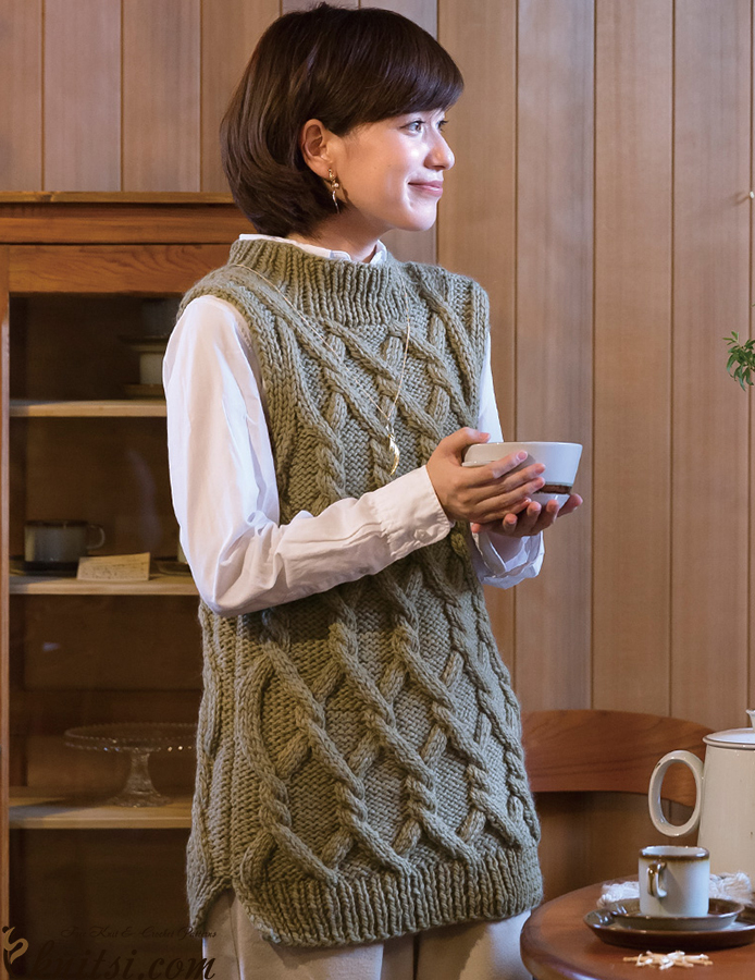 Long Vest Knitting Pattern Free