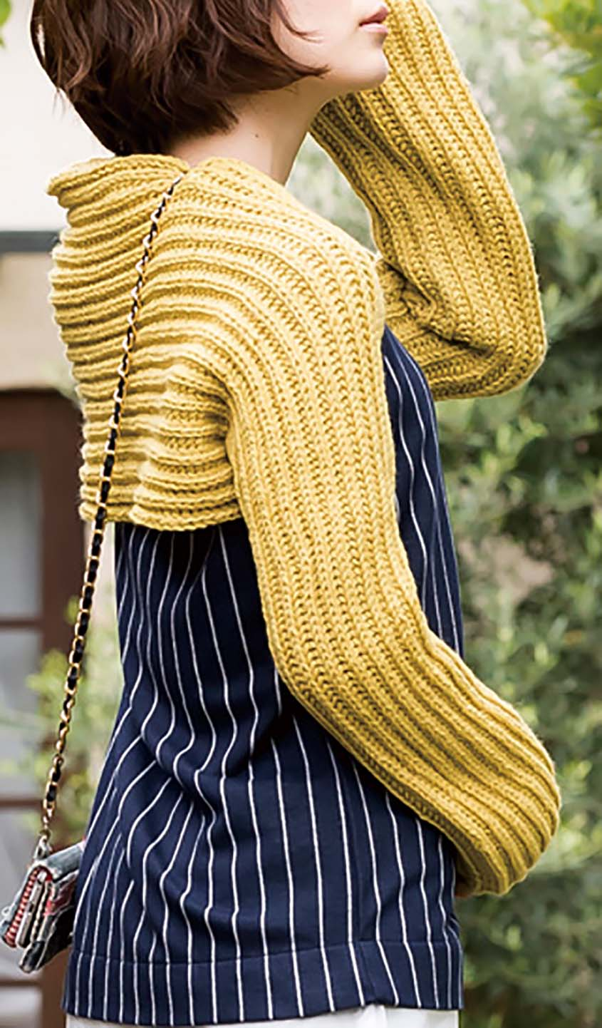 Scarf-shrug knitting pattern free