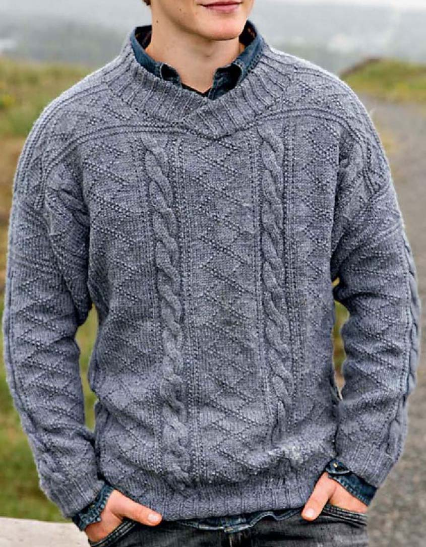 Cabled sweater knitting pattern free