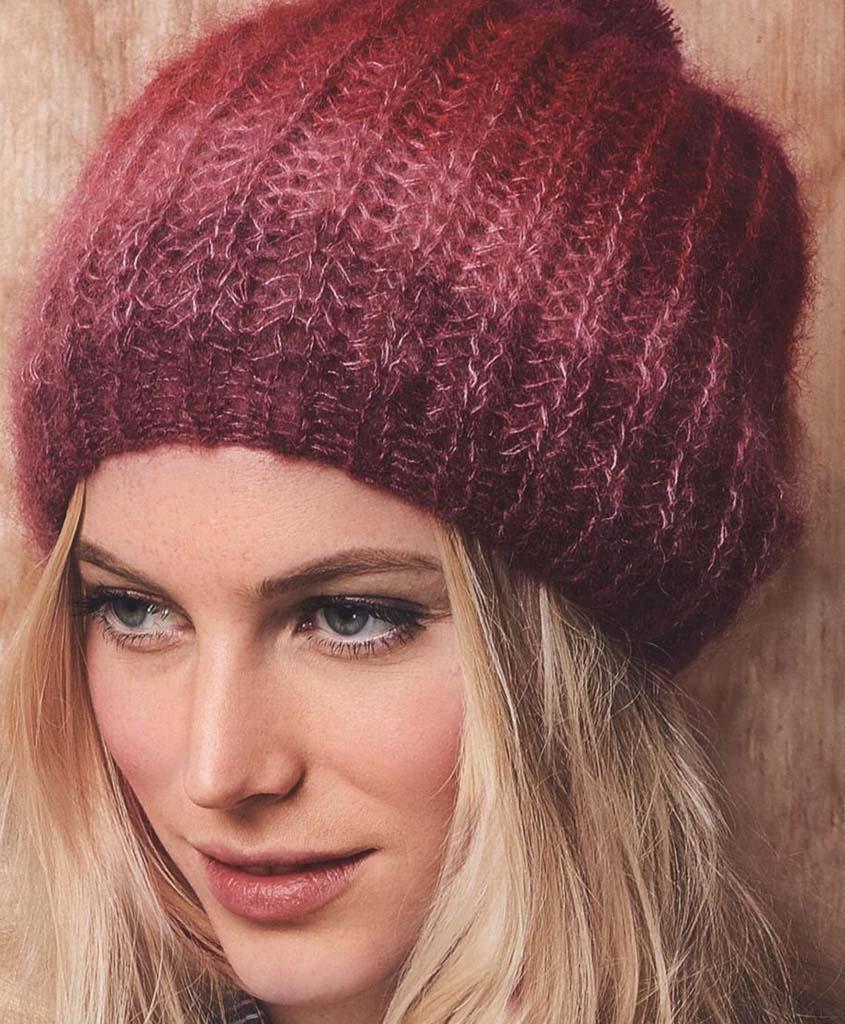 Kid mohair-silk hat knitting pattern free