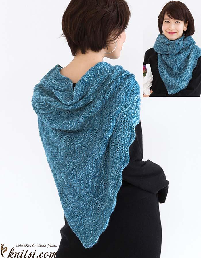 Triangular Shawl Knitting Pattern Free