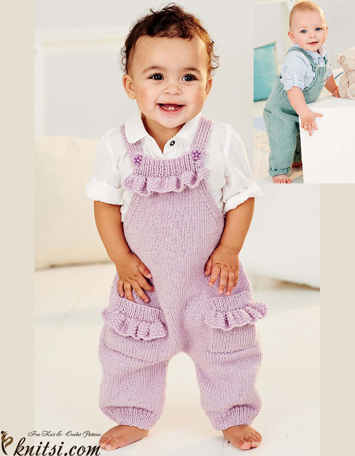 Dungarees Knitting Patterns Free