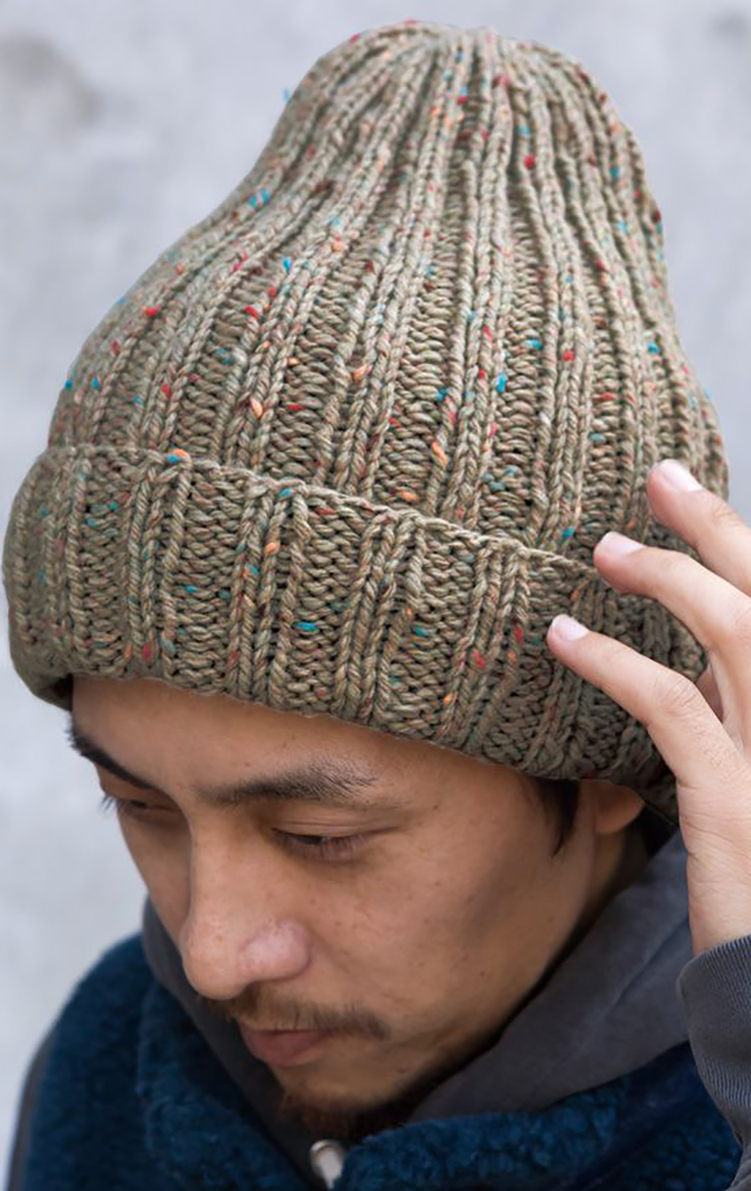 Ribbed hat knitting pattern free