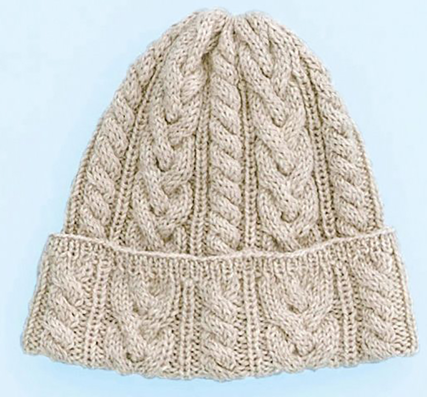 Free Knitting Pattern Cable Hat