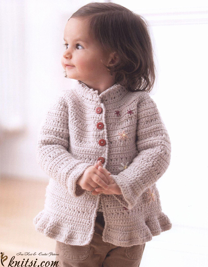 Baby yoke jacket crochet pattern free