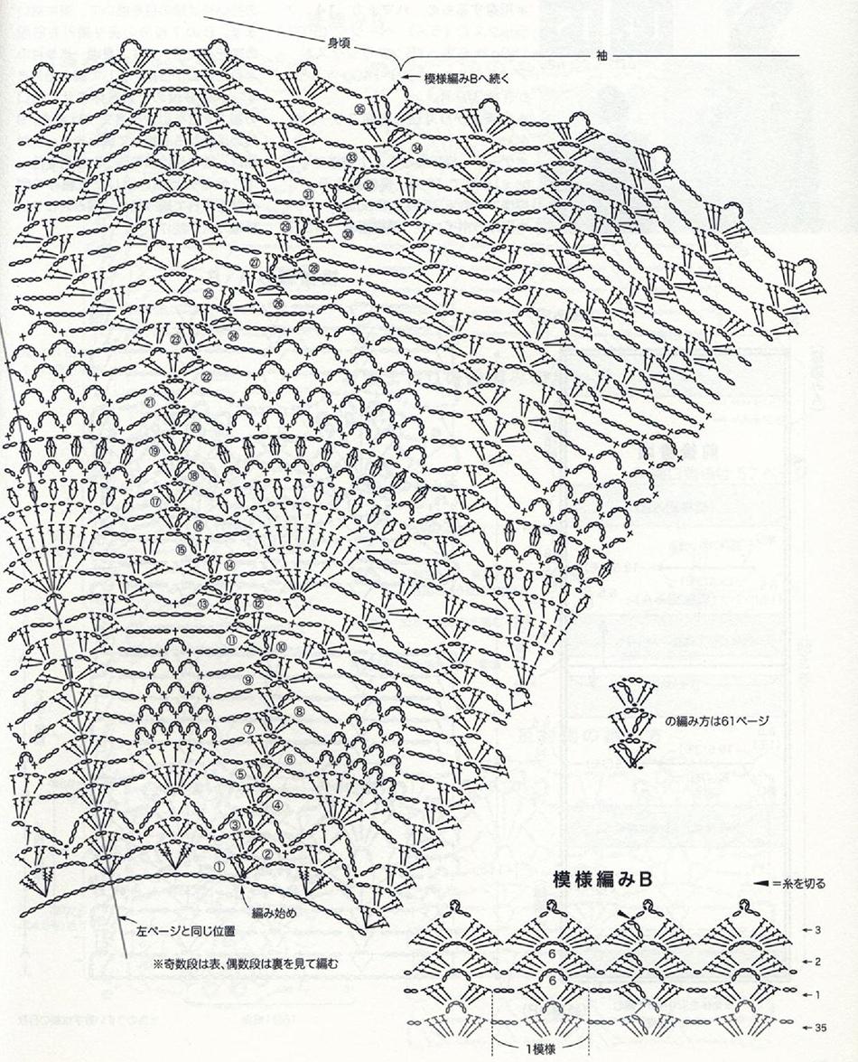Lace Poncho Free Crochet Diagram