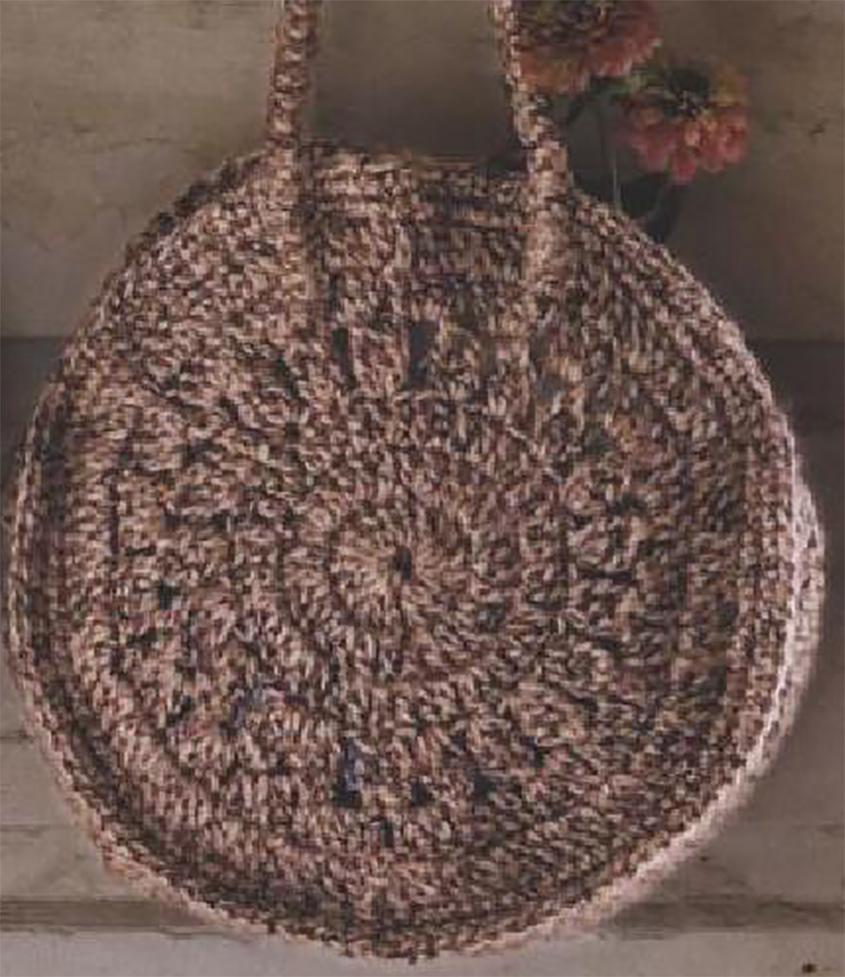 Circle bag - free crochet diagram