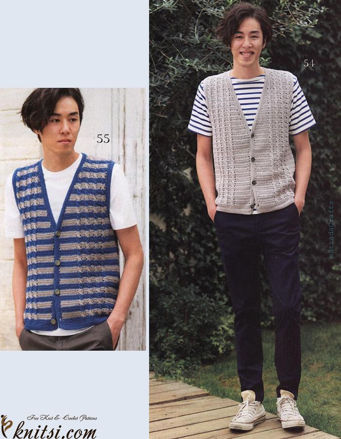 Mens Vest Free Crochet Diagram
