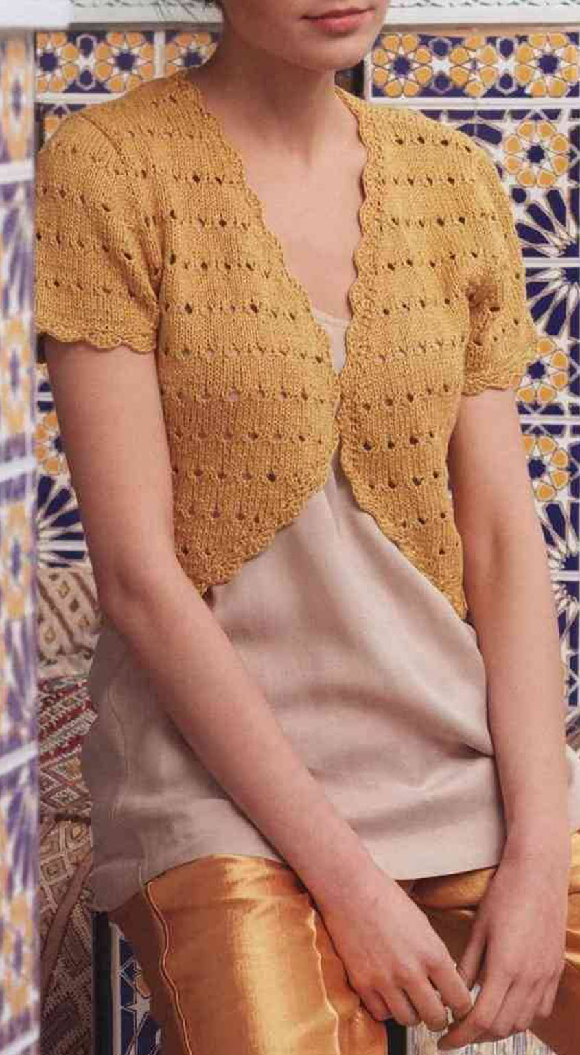 Bolero knitting pattern free