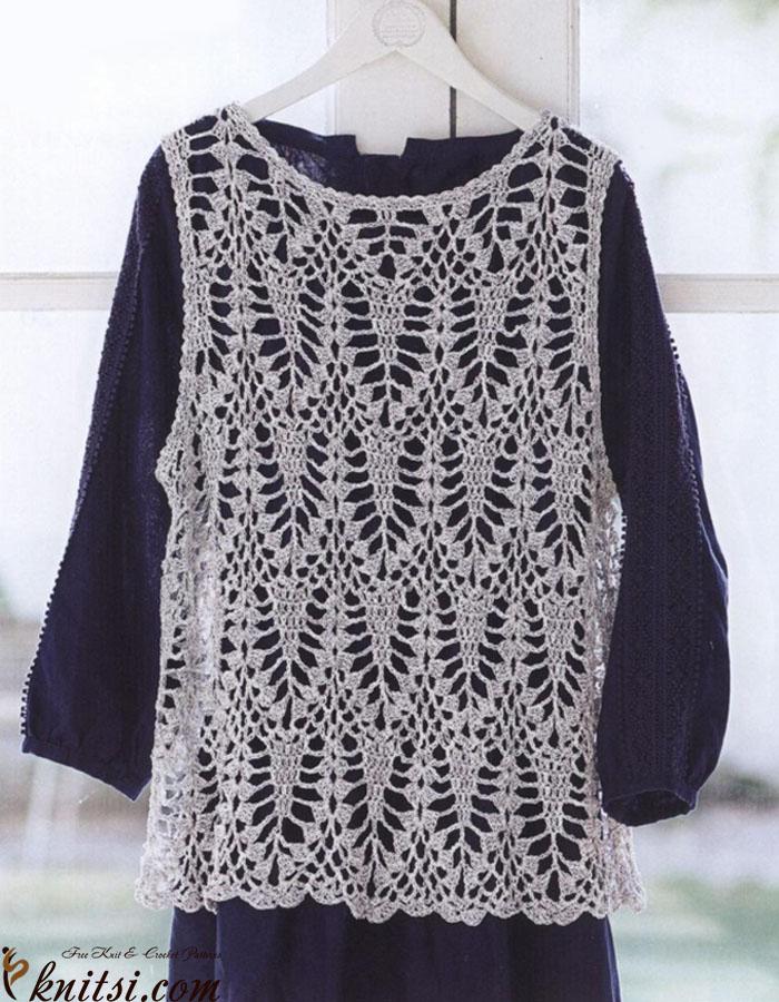 Lace Vest Free Crochet Diagram